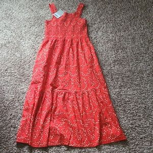 NWT Everlane the smock dress red small